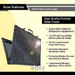 ExpertBattery 200 Watt Monocrystalline Foldable Solar Panel Kit, Suitcase Panel