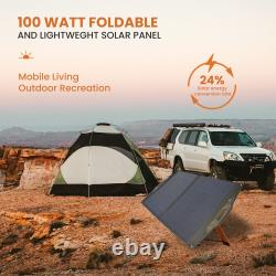 FLEXSOLAR C100 100 Watt Foldable Portable Solar Panel Charger with Stand and Bag