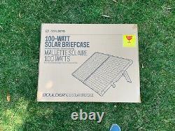 Goal Zero Boulder 100 Briefcase 100 watt solar panels + 30ft 8mm cable included