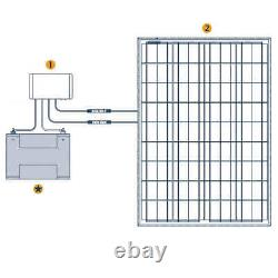 Grape Solar 100-Watt IP68 Off-Grid Solar Charging Kit