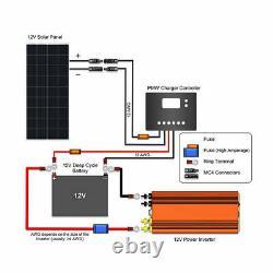 HQST 190W Watts 12V Mono Solar Panel 200W for RV Car Boat Camping Off Grid
