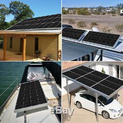 HQST 3PCS 100W Watt 12V Mono Solar Panel 300W Monocrystalline RV Boat Home
