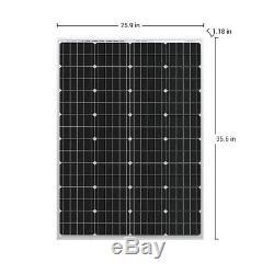 HQST 400W Watt 12V Mono Solar Panel 4PCS 100 Watt 12V Monocrystalline Boat Home