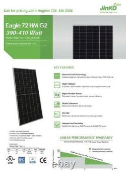 Jinko 400 Watt Mono-Perc Half Cell Brand New with Warranty! JKM400M-H-V