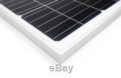 LCS Solar Panel 200 Watts 2pcs 100W Monocrystalline 12 Volt RV Boat Off Grid 24V