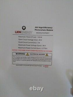 Lion Energy 100 Watt Solar Panel Portable Foldable