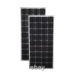 Mighty Max 200 Watt Solar Panel Mono 2pc 100W Off Grid 12V RV Boat Home 2 Pack