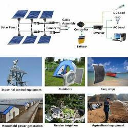 Mono Flexible Bendable 150w 150 Watt Lightweight Solar Panel 18v Battery OffGrid