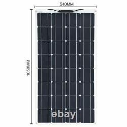 Mono-crystalline Solar Panel Cell Flexible 12V 24 Volt 100 Watts Solar Batteries