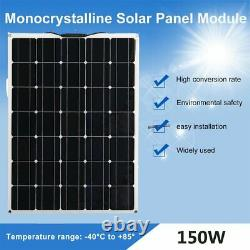 Monocrystalline 18V 150WATT Solar Panel Flexible Charge Car RV Boat Home Camp BT
