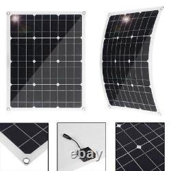 New 600W 300 Watt Monocrystalline PET Solar Panel Kit 18V RV Car Battery Charger
