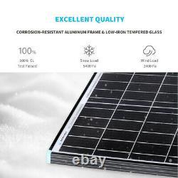 New Design Renogy 100W Watt 12V Volt Monocrystalline Solar Panel With Black Frame