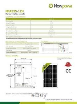 NewPowa Mono 25W Watt 12V Solar Panel High Effciency Module 20 Watt RV