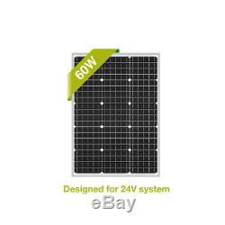 Newpowa 60W Watt 24V Monocrystalline Solar panel RV Marine boat off grid