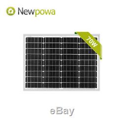 Newpowa 70 Watt Mono Solar Panel 12v Solar Battery Charging System Kit Marine RV