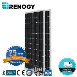 Open Box 2PCS Renogy 100W Watt 12V Mono Solar Panel 200W Off Grid PV Power