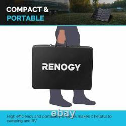Open Box Renogy 100W 12V Foldable Solar Panel Suitcase 100 Watt Off Grid RV Boat