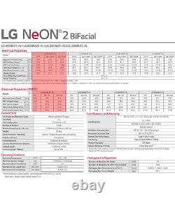 PALLET OF 25-LG ELECTRONICS-LG405N2T-J5 BIFACIAL-SOLAR PANEL-Total 10125 Watt