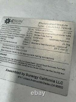 Pallet Of Used But Never Energized New Csun 380 Watt Solar Panels Free Shipping