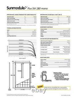 Pallet Used American Made Solarworld 280 Watt Mono Solar Panels. Free Shipping