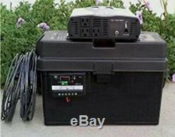 Portable 1500/3000 Watt Solar Generator 100AH Battery + 100w Solar Panel