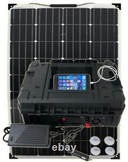 Portable Solar Generator 1000W Lithium+150 Watt Panel Pure Sine 110v 2400w peak
