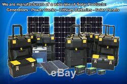 Portable Solar Generator 5000/2000 Watt 160 Watt MONO Solar Panel Pure Sine