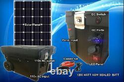 Portable Solar Generator 5000W 2500W Watt 160 Watt Panel Pure Sine AGM