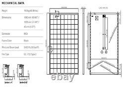 QTY OF 10 PANASONIC SOLAR PANELS 325W- SC325 Total 3250 Watts