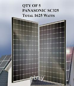 QTY OF 5 PANASONIC SOLAR PANELS 325W- SC325 Total 1625 Watts