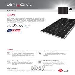 Quantity of 5 LG solar panels 395 Watts- LG395N2W-A5