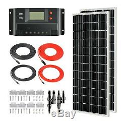 RICH SOLAR 200 Watts 12 Volts Mono Solar Kit with 30Amp PWM Charge Controller