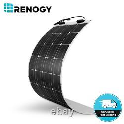 Renogy 100W Watt 12 Volt Flexible Mono Solar Panel Boat RV Camping