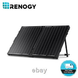 Renogy 100W Watt 12V Volt Monocrystalline Foldable Solar Suitcase RV Camping