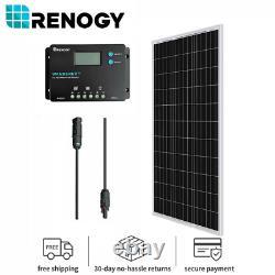 Renogy 100Watt 12Volt Mono Solar Bundle Kit With10A PWM Charger Controllor RV Boat