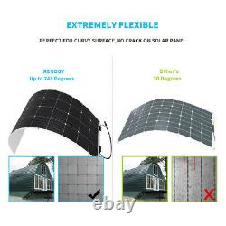 Renogy 175W Watt 12V 248° Flexible Mono Solar Panel for RV Rooftop Boat Off Grid