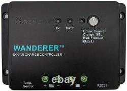 Renogy 200 Watt 12 Volt Monocrystalline Solar Starter Kit with Wanderer