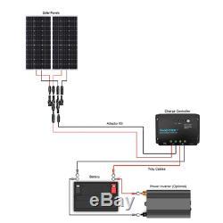 Renogy 200 Watts 12V Monocrystalline Solar Starter Kit 30A PWM Charge Controller