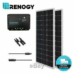 Renogy 200W Watt Mono Solar Panel Bundle Kit With30A PWM Battery Charge Controller