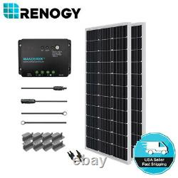 Renogy 200W Watts 12V Mono Solar Panel Starter Kit With 30A PWM Charge Controller