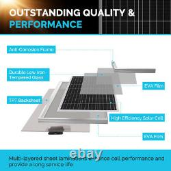 Renogy 200Watt 12Volt Mono Solar Panel Premium Kit With 20A MPPT Charge Controller