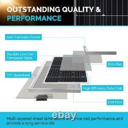 Renogy Solar Power Starter Kit 200-Watts Monocrystalline Silicon RV 2-Panels