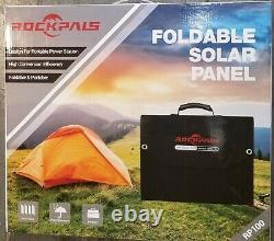 Rockpals Solar Panel Foldable 100 Watts 4 Panels NWOB All Cables Included