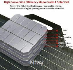 SOLAR PANEL Station Portable 120 Watt Foldable Highest Efficiency Cells FULL KIT
