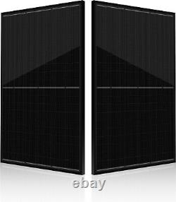 Solar PV Panel 330Watt Half Cut 120 Cells Monocrystalline All Black Frame