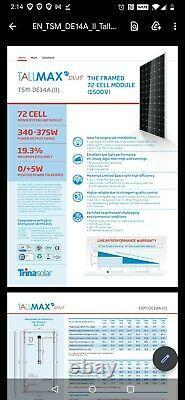 Solar Panel Trina 72 Cell 375 watt