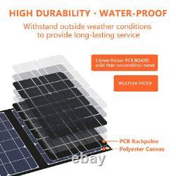 TISHI HERY 50W 12V Foldable Solar Panel Suitcase 50 Watt Off Grid RV Boat USB