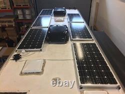 1- 200 Watt 12 Volt Chargeur De Batterie Panneau Solaire Off Grid Rv Boat Noir Sur Noir