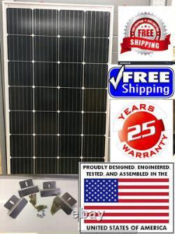 1- 210 Watt 12 Volt Chargeur De Batterie Panneau Solaire Hors Réseau Rv Bateau Gratuit Z Bracket