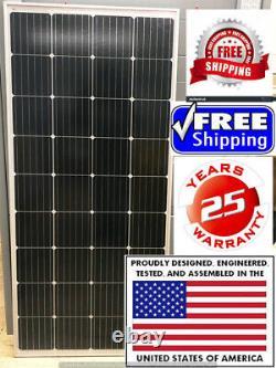 1- 210 Watt 12 Volt Chargeur De Batterie Panneau Solaire Hors Réseau Rv Bateau Totale 210 Watts